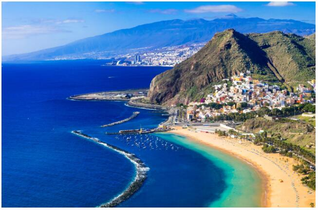 Tenerife's classic landscape includes beaches and mountains