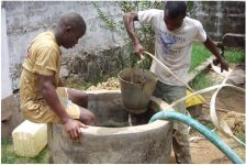 Access to clean drinking water is not a given in Liberia