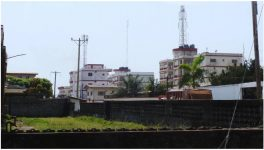 Apartment blocks in Sinkor, Monrovia