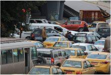 Traffic jam in Baghdad Iraq
