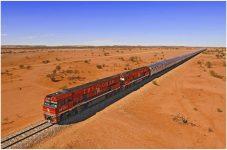 Train passes Australia