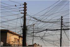 Iraq Tangled cables in Erbil